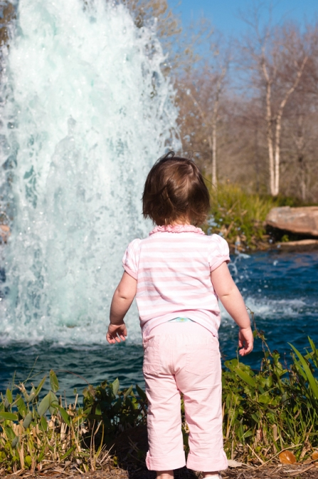 loves the fountain!