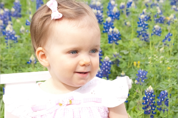 bluebonnets and blue eyes . . .